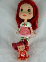 """Strawberry Shortcake 11"""" Vinyl Hasbro Doll 2008 + 4.5"""" doll - $13.85"""