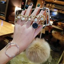Case for HTC Desire 628,Luxury Hairy Fur Plush Pom-pom Ball Pearl Diamond Metal  - $12.86