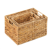 Storage Baskets, Decorative Large Storage Basket Set, Straw (set Of 3) - $37.48