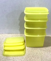 Set of 4 Tupperware Yellow Shelf Saver Storage Containers 1243 with Lids - $20.33