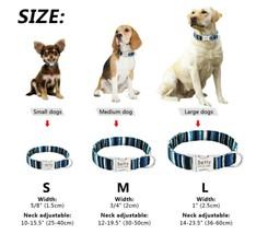 Custom Engraved Name Dog Collar Adjustable Puppy Nameplate Large Medium Small - $5.81