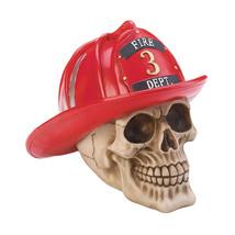 Skull Decorations Home, Skull Room Decor Firefighter Decorative Skull St... - $24.58