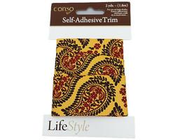 Conso Self-Adhesive Trim, Paisley, 2 Yards #1475166131