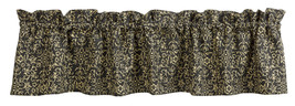 Olivia's Heartland EVELYN Black & Tan floral pattern window VALANCE curtain - $27.95