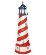 PATRIOTIC CAPE HATTERAS LIGHTHOUSE - Red White & Blue USA Flag Working L... - $176.19+
