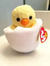 Ty Beanie Baby Eggbert with Display Case with Tag Errors Baby Chick - $9.36