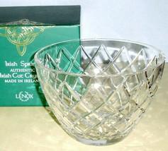 "Lenox Irish Spring MacKenna Crystal Bowl 8"" Made in Ireland #859472 New ... - $129.90"