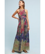 NWT ANTHROPOLOGIE ABSTRACTED FLORAL GOWN MAXI DRESS by BHANUNI 8 - $170.99