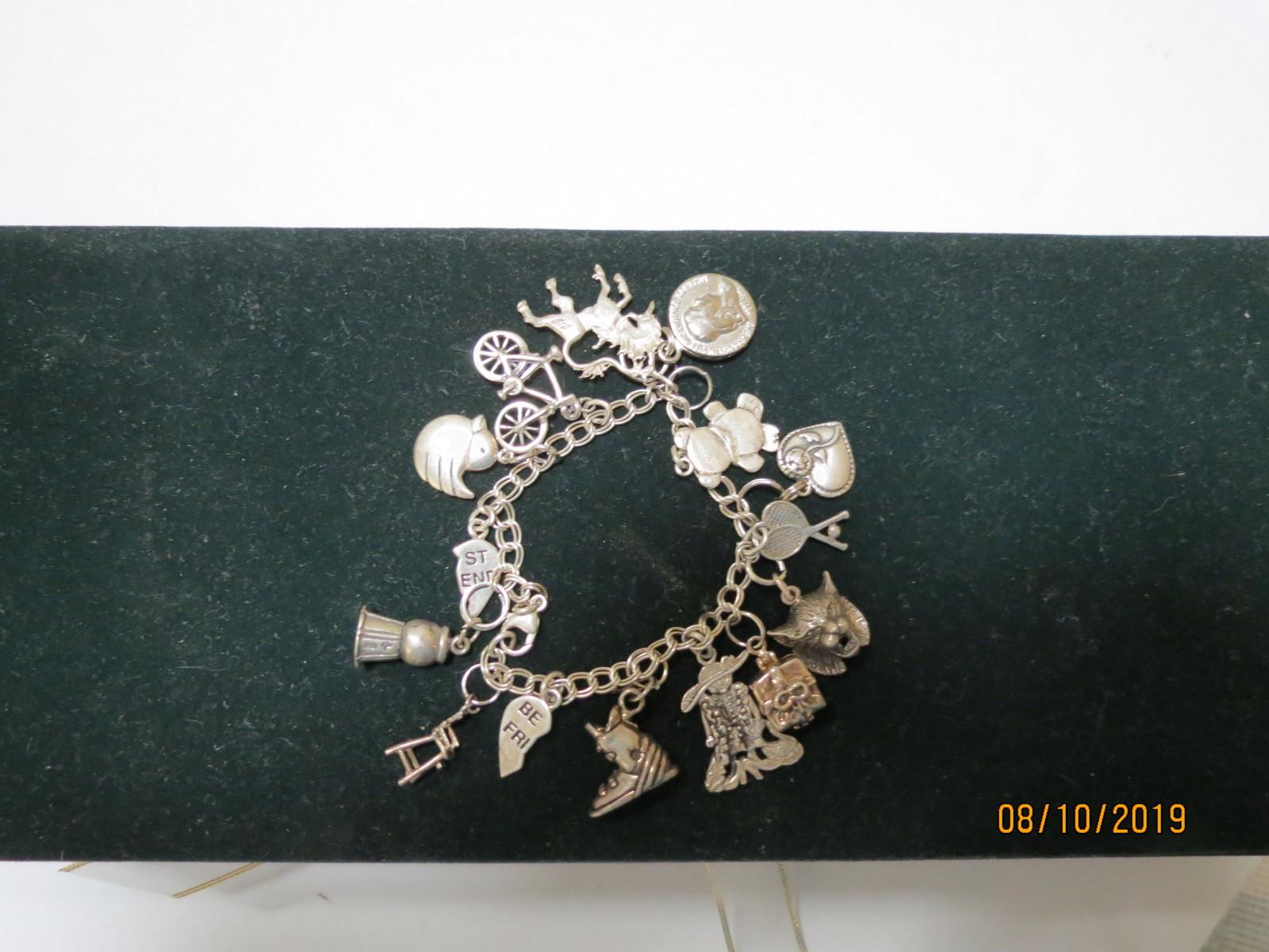 Sterling Silver charm bracelet image 3