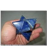 "Jet Rare New Natural Lapis Lazuli Large 2"" Merkaba Gemstone Huge Big A+ ... - $77.89"