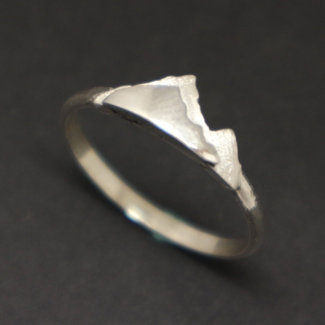 Silver Mountain Layered Ring image 2