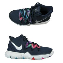 """Nike Kyrie 5 """"Galaxy"""" GS Basketball Shoes Size 7Y Blue Multi Color AQ245... - $113.80"""