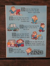 Vintage 1981 American Greetings Blessed are Dads Happy Father's Day Plaq... - $19.40