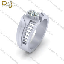 Solitaire Diamond Engagement Band 0.45ct Oval Cut Diamond Wedding Band J... - £81.61 GBP+