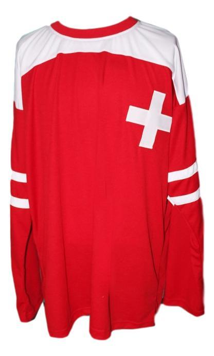 Custom name   team switzerland hockey jersey red   1