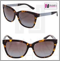 Jimmy Choo Cora Brown Havana Glitter Square Sunglasses CORA/S Square Gradient - $254.43