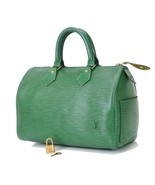 Authentic LOUIS VUITTON Speedy 25 Green Epi Leather Boston Hand Bag Purs... - $399.00