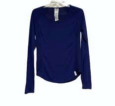 Women's Under Armour Fly-By Long Sleeve Mesh Back 1245623 Shirt in Blue ... - $24.72