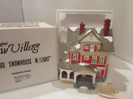 DEPT 56 50547 KENWOOD SNOWHOUSE SNOW VILLAGE BUILDING  W/CORD  D8 - $34.25