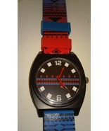 NWT New Mens Aeropostale Watch Style: 7008 Rubber Band Black Metal Case - $11.75