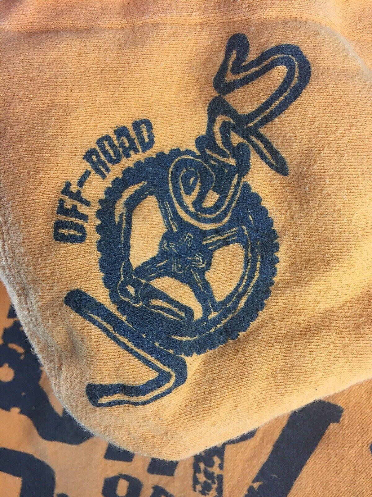 Off-Road Vixens Cotton Poly Orange Hooded Zipper Sweatshirt Size M image 4