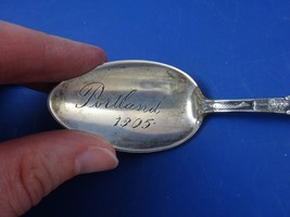 "Portland Oregon  Souvenir Spoon Sterling Silver  OREGON (Engraved ""1905"") image 2"