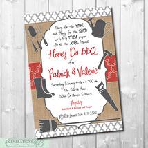 HONEY DO BBQ Invitation printable/Digital File/Honey Do Shower, Couples ... - $14.99