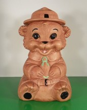 Vintage Twin Winton California Cookie Jar Ranger Bear with Hat 1960s - $59.30