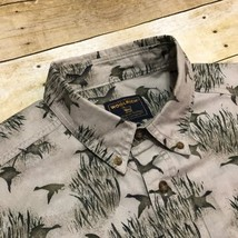 Woolrich Beige Duck Hunting Print Men's XL 100% Cotton Casual Outdoor Shirt - $18.66