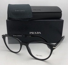 New PRADA JOURNAL Edition Eyeglasses VPR 07T 1AB-1O1 52-19 140 Black Frame - $219.95