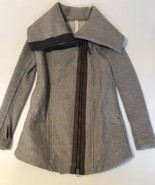 Lululemon Lulu Grey Funnel Neck Full Zip Sweater Jacket Size 2 - $86.89