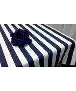 "STRIPED TABLECLOTH- COLORS Square, Round Tablecloth, 72"" diameter, nauti... - $74.00"
