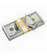 PROP MONEY Real Looking Updated New Style Copy $100s FULL PRINT Stack Re... - $18.74