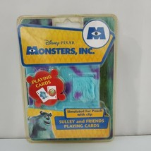 NEW Disney Pixar Monsters Inc Sulley and Friends Playing Cards Fuzzy Pouch - $10.89