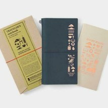 raveler's Factory Traveler's leather Note book Kyoto Limited Edition Nav... - $112.69
