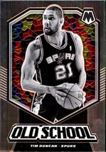 2019-20 Panini Mosaic Old School #20 Tim Duncan Spurs - $4.95