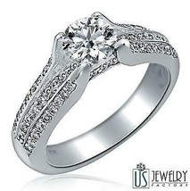 1.01 Carat Cathedral Set Solitaire Round Cut Diamond Engagement Ring 3-R... - $2,355.21