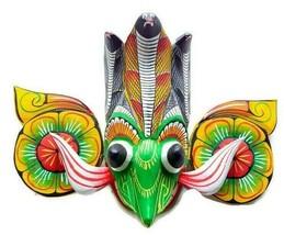 "Handmade Wooden Wall Hanging Decorative Eagle Cobra Tiki Mask 6"" For Goo... - $22.44"