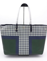 NWT Tory Burch Kerrington Square Tote Green Milano Shoulder Bag New  $298 - $198.00