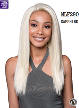 "MIDWAY BOBBI BOSS MLF290 SAPPHIRE Straight Synthetic 4"" X 7"" PART SWISS LACE WIG"