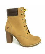 Timberland Donna Tillston Giallo Grano Stivali Tacco Alto Scarpe A1KJH T... - $115.64