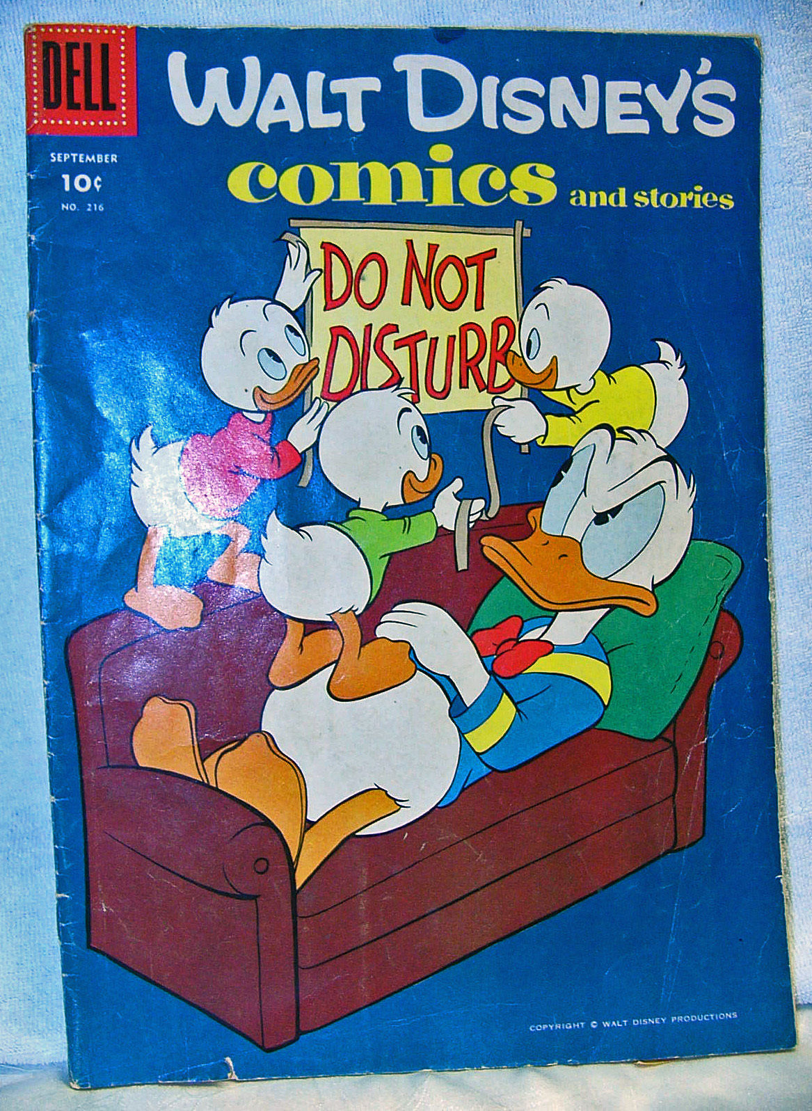 Walt Disney Comics Dell 1958 No216A Donald Duck Do Not Disturb Good Condition - $9.05