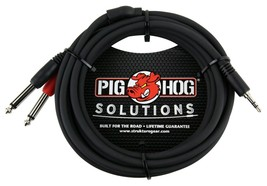 Pig Hog - PBS3410 - Stereo Breakout Cable 3.5mm to Dual 1/4 -10 ft.- Black - $13.81