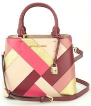 Michael Kors Adele Mulberry Red Leather Shoulder Messenger Bag Handbag - $283.48