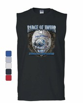 Policeman Badge of Honor Muscle Shirt Police Protect and Serve Cop PD Sleeveless - $10.84+