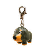 Very Cute Gray/Orange 3-D Poly Dog Figurine Dog Purse Jacket Collar Char... - $5.95
