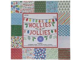 """Hollies & Jollies-6""""x6"""" 48 Sheet Paper Pad-"""