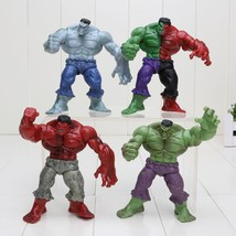 New 4 Style Red Gray Green Hulk Marvel Super Heroes 12cm PVC Action Figures Toys - $25.99