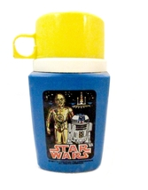 1977 Star Wars C3PO/R2D2 Thermos Bottle - Yellow Top - $48.95