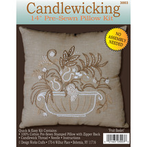 "Design Works Candlewicking Kit 14""X14""-Fruit Basket-Stitched In Thread - $14.79"
